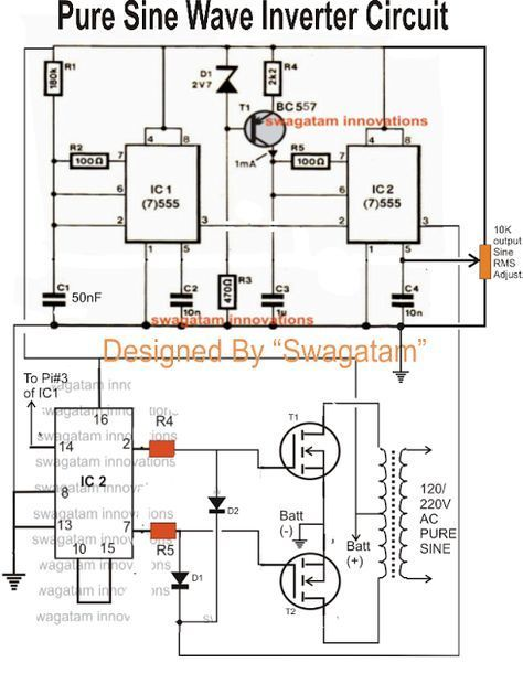 Simple Sinewave Inverter Circuits Sine Wave Electronic
