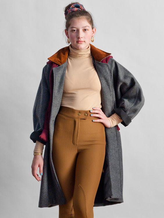Manteau long en laine American Apparel