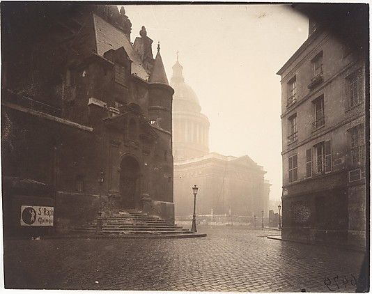 "Eugène Atget, (French,1857–1927). Rue de la Montagne-Sainte-Geneviève, 1924. The Metropolitan Museum of Art, New York. Gilman Collection, Purchase, Mr. and Mrs. Henry R. Kravis Gift, 2005 (2005.100.535) | This photograph is featured in ""Paris as Muse: Photography, 1840s–1930s,"" on view through May 4, 2014. #paris"