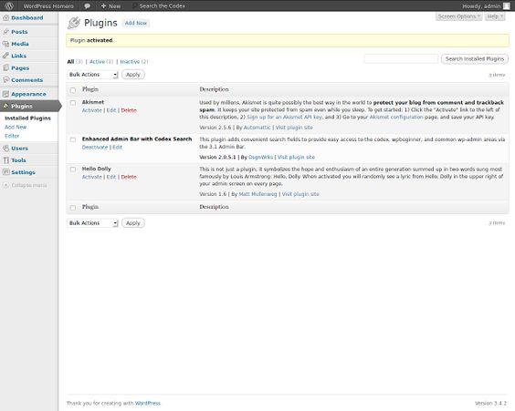 Como instalar un plugin en WordPress 3.4.2