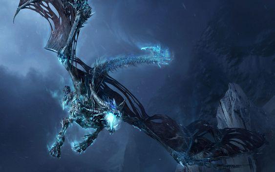 Mountain Dragon | Dragon » Frost-Dragon-Widescreen-Wallpaper