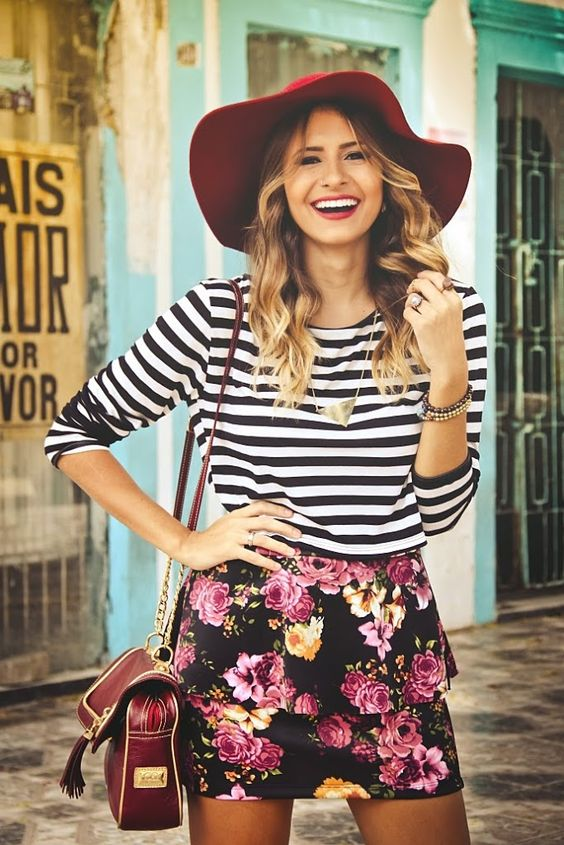 Summer Look | Mix de estampas, flores e listras: