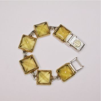 Sterling Silver layered with 24K Gold, Citrine Bracelet by GURHAN