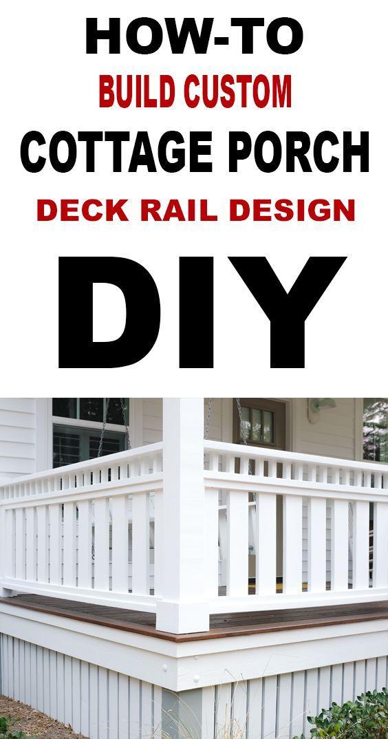 Diy Custom Porch Deck Rail Cottage Design Decks And Porches Custom Porch Deck Railings