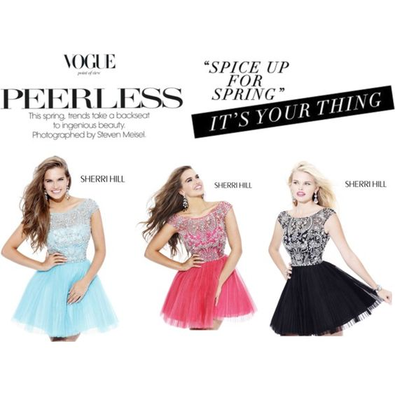 """Sherri Hill Homecoming Dresses"" by mccooey-vila on Polyvore"