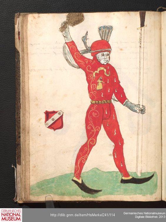 Merkel Hs 2° 241  Schembartbuch [o.O.]: 1551/1600 Illustration: Ulrich Macher (Haubtman 1480)