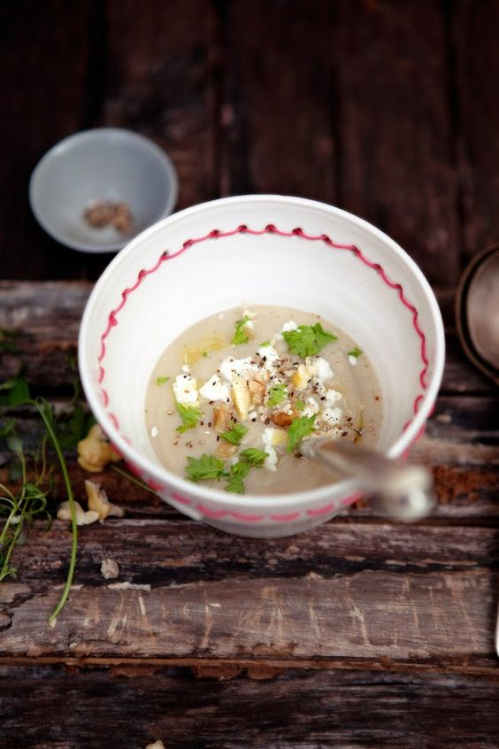Roasted Chestnut, Potato, and Celery Root Soup