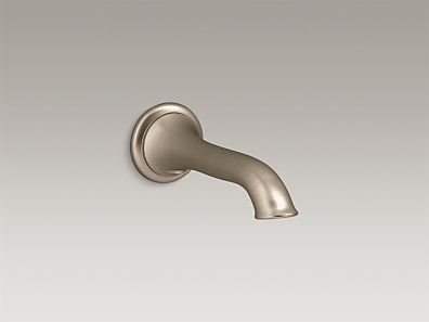 KOHLER | K-72791-BV | Artifacts® Wall-mount bath spout with flare design