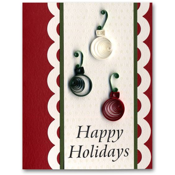 Holiday Card 54 Quilled Ornaments