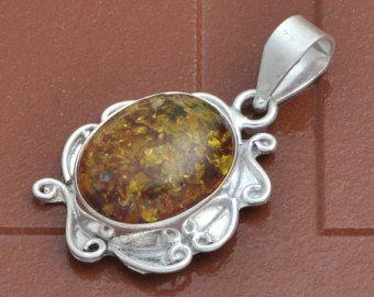 Decorr Glass pendant Silver PendantDecorr by Sterling925jewelry