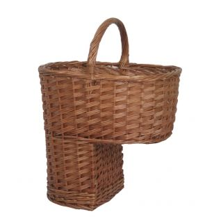 Willow Stair Step Basket with Handle --- Quick Info: Price £29.00 Our Stair Step Basket is designed to sit neatly at the bottom of your stairs, as a decorative and useful addition to your stairway. --- Available from Roman at Home. Images Copyright www.romanathome.com