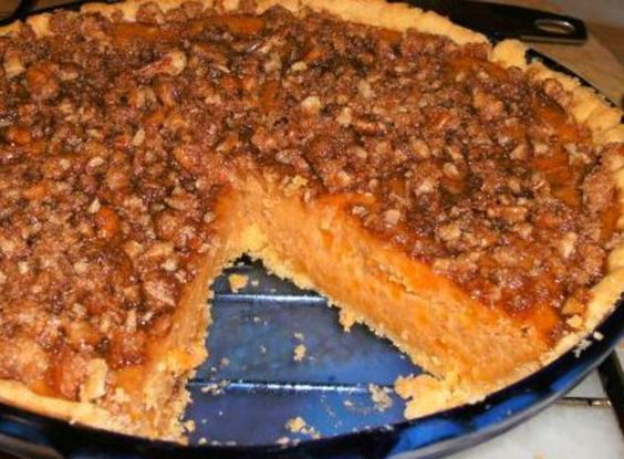 Sweet Potato Streusel Pie
