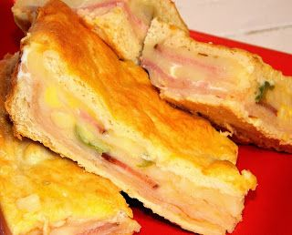 Crescent rolls, Ham and cheese and Hams