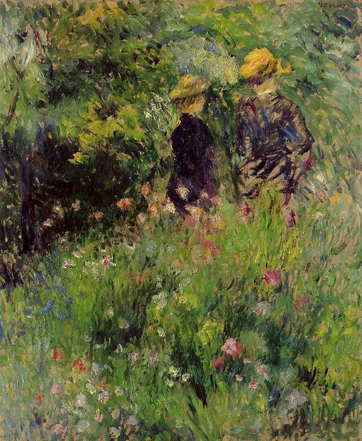 Conversation in a Rose Garden, 1876.  Renoir