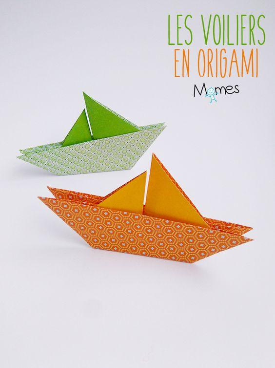 un voilier en origami pinterest origami comment et simple. Black Bedroom Furniture Sets. Home Design Ideas
