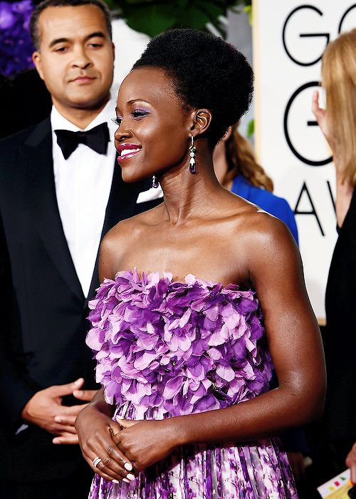 Lupita at the 2015 Golden Globes