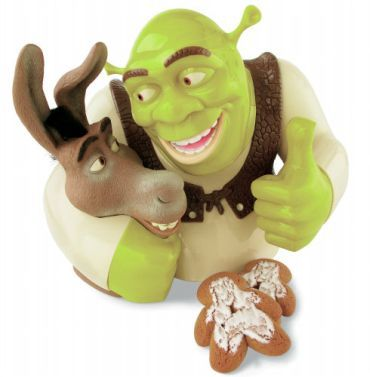 A talking Shrek cookie jar!