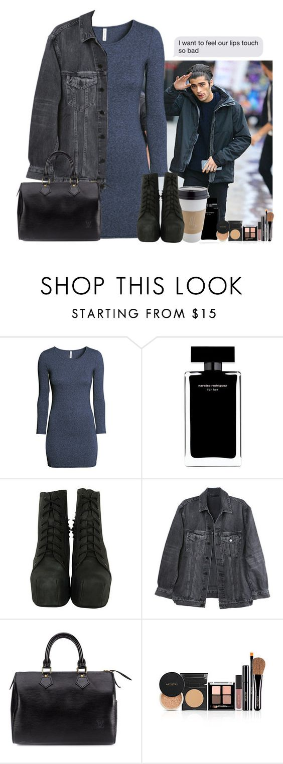 """""""I want to feel..."""" by sticthen ❤ liked on Polyvore featuring H&M, Narciso Rodriguez, Jeffrey Campbell, Y/Project and Louis Vuitton"""