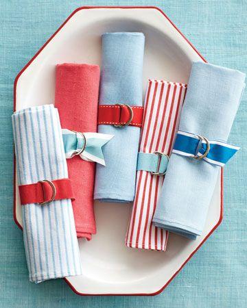 Festive Ribbon Napkin Rings