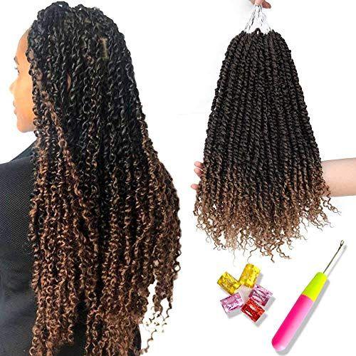 New 6 Pcs Pre Twisted Passion Twist Hair Ombre Crochet Braids