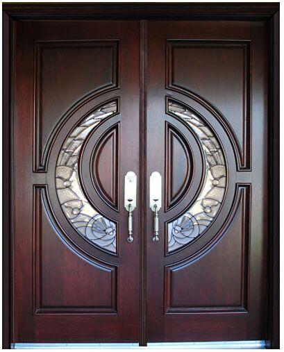 Frontal personalizado cl sica de madera maciza puertas for Puertas dobles de madera
