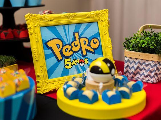 Resultado de imagem para decoração festa pokemon segunda geração