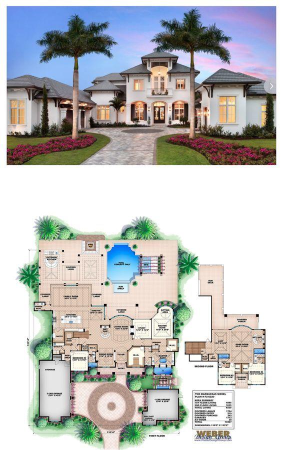 Beach House Plan Caribbean Style Golf Course Home Floor Plan Beach House Plans Pool House Plans House Floor Plans Modern beach house plan