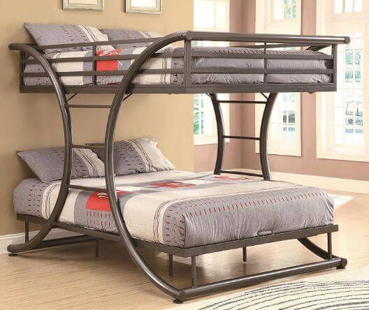 Best Queen Over Queen Bunk Beds For Adults In 2018 Bunk Beds For Kids Bunk Bed Designs Cool Bunk Beds Modern Bunk Beds