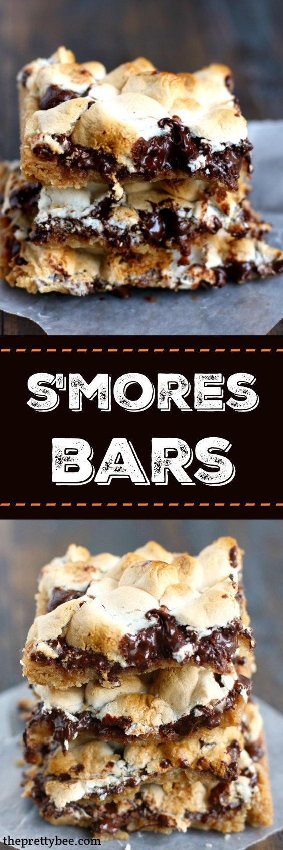 ... toasted marshmallows, a graham cracker crust...these s'mores bars have
