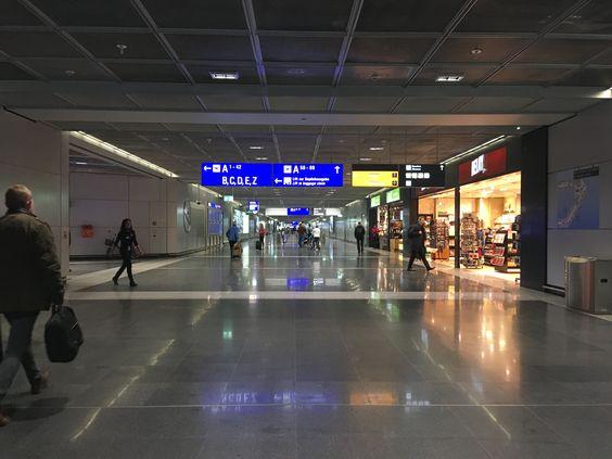 Внутри аэропорта Франкфурта