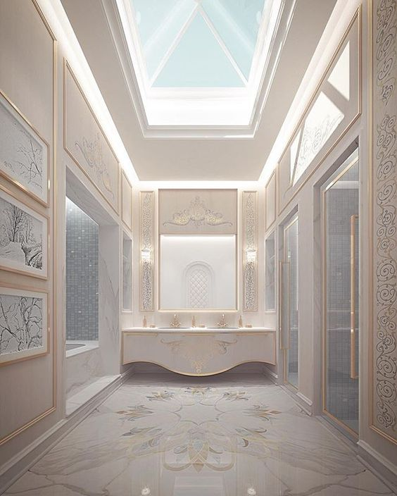 Master Bathroom Design Abu Dhabi Private Palace Uae Ions