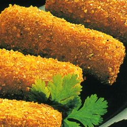 Dutch Croquetten Allrecipes.com TO MAKE AS VEGETARIAN DISH, ELIMINATE VEAL AND SUBSTITUTE VEGETABLES AND MORE CHEESE