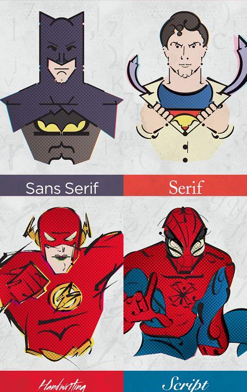 typographics heroes by Mateus Olin