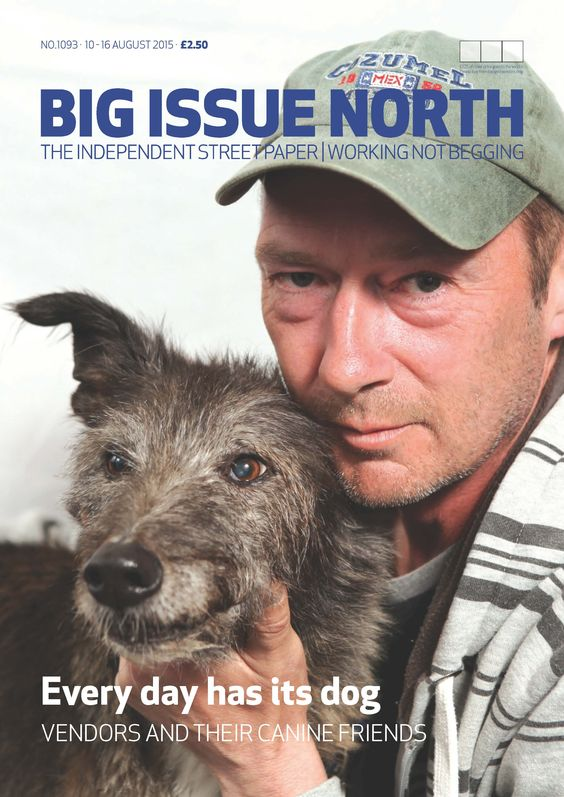 Magazine available from August 10-16 2015. More info on our website www.bigissuenorth.com.
