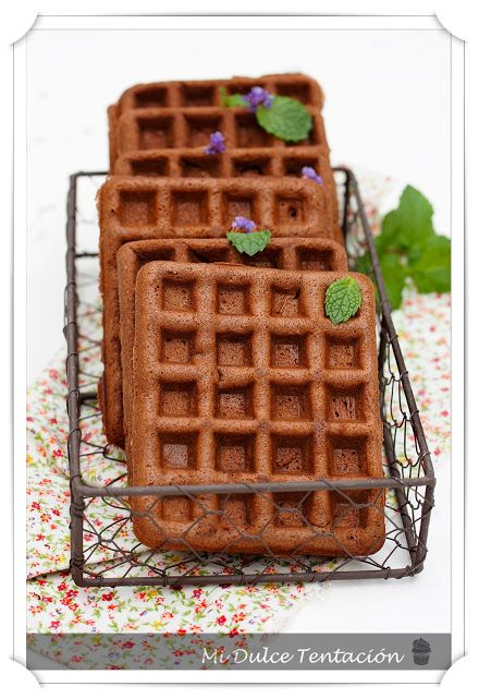 Gofres de Chocolate y Canela - Mi dulce tentación