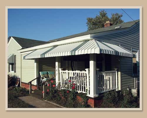 Aluminum awnings dress up and protect porches, decks and entryways from the…