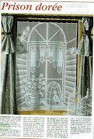Филейное вязание: оригинальная штора