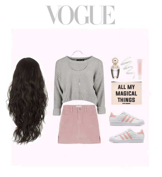"""vogue?"" by omgmarissa ❤ liked on Polyvore featuring moda, adidas Originals, Forever 21, Marc Jacobs, Lancôme, Cynthia Rowley, women's clothing, women, female e woman"