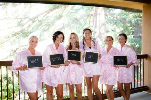 Bridesmaids sign for the groom {So Eventful}