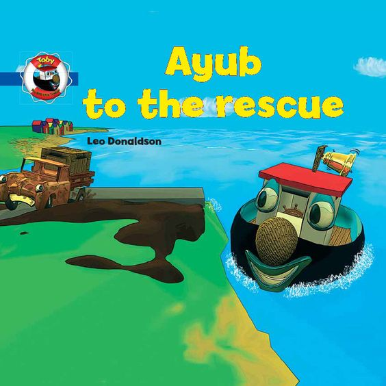 Children Personalized Books -- TUGBOAT RESCUE BOOK -- (customize this book with your child's name & info)