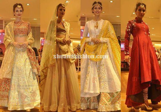 Anju Modi bridal lehenga and anarkali collections for AZVA