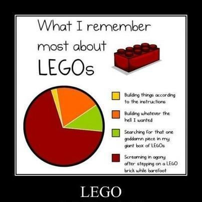 What I remember about legos....yep!