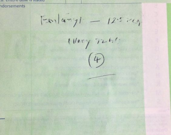 OSCE: without swearing, please give constructive feedback on this prescription to the initiating GP. h/t @UK Pharmacist