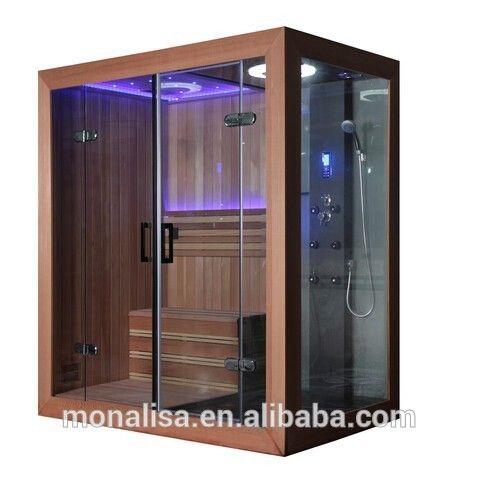 Source Luxury Bathroom Design Portable Led Steam Shower Sauna Combos Room Cedar Whitewood On M Alibaba Com Bathroom Design Luxury Sauna Shower Bathroom Design