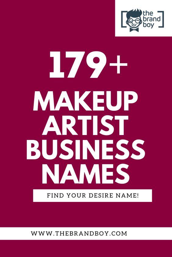 479 Catchy Makeup Artist Name Ideas Video Infographic Makeup Artist Names Makeup Business Names Makeup Artist Business