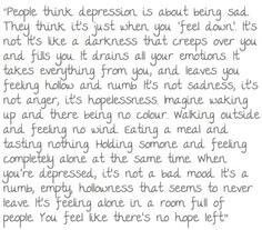 Ways to describe depression?