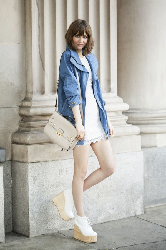 Chambray Anorak and Love Lace Dress