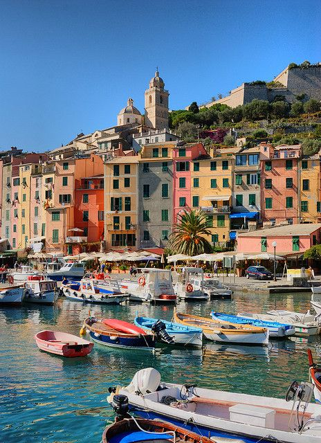 Portovenere, Italy. Portovenere is a traditional fishing village with a picturesque jumble of pastel houses, boats bobbing in the harbor and a network of meandering hiking trails. The area has inspired poets and writers, from Lord Byron to D.H. Lawrence.