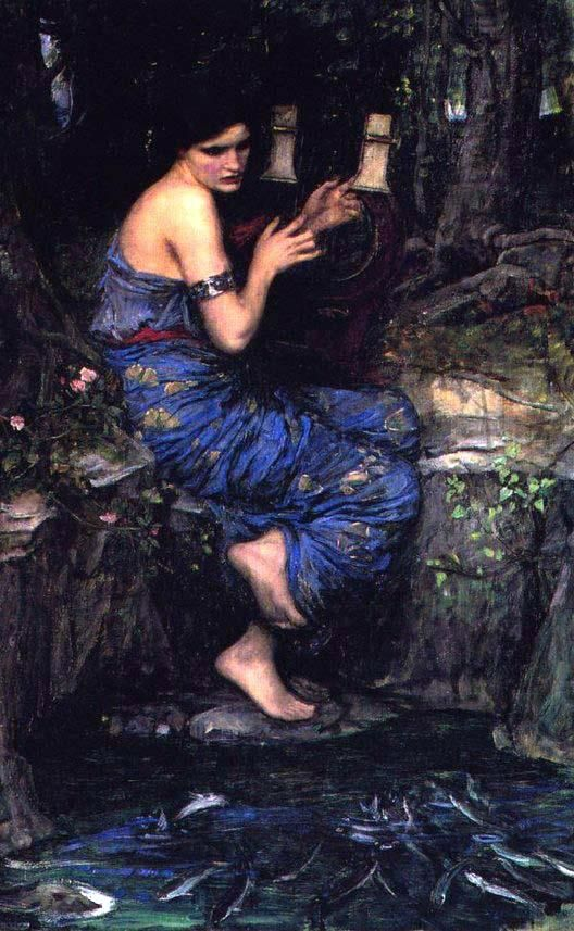 """The Charmer"".  (1911).  ""O Encantador"". (by John William Waterhouse)."
