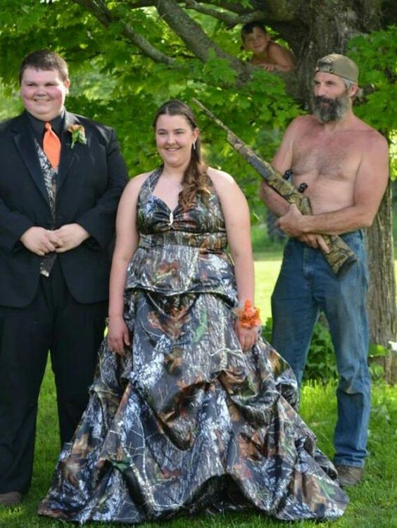 Redneck Wedding Armed. It's totally normal to marry your mum, whilst your dad is the best man…